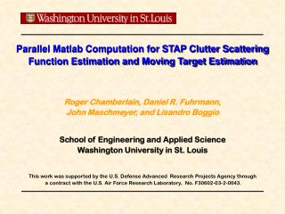 Parallel Matlab Computation for STAP Clutter Scattering