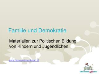 Familie und Demokratie