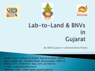 Lab-to-Land  BNVs  in Gujarat