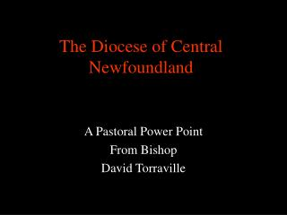 The Diocese of Central Newfoundland