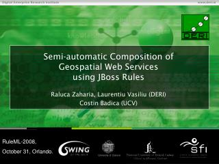 Semi-automatic Composition of  Geospatial Web Services  using JBoss Rules