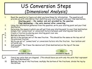 US Conversion Steps (Dimensional Analysis)