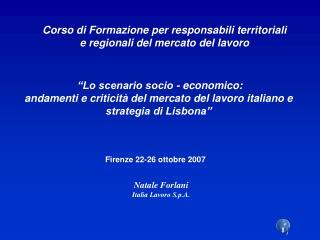 """""""Lo scenario socio - economico:"""