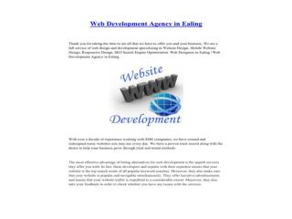 Web Development Agency in Ealing