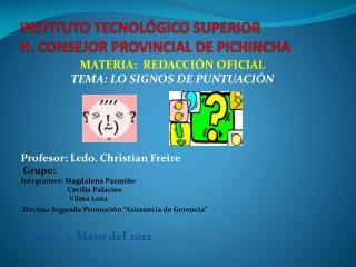 INSTITUTO TECNOLÓGICO SUPERIOR  H. CONSEJOR PROVINCIAL DE PICHINCHA
