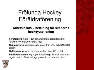 Frölunda Hockey Föräldraförening