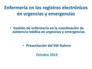 Enfermería en los registros electrónicos en urgencias y emergencias