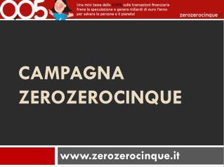 Campagna zerozerocinque