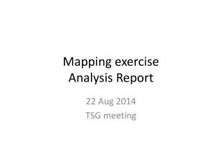 M apping exercise Analysis Report