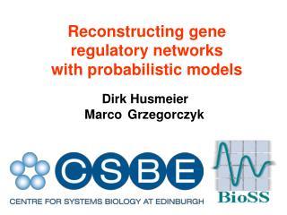 Reconstructing gene  regulatory networks with probabilistic models