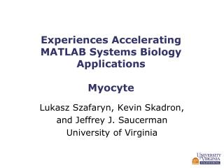 Experiences Accelerating MATLAB Systems Biology Applications Myocyte