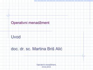 Operativni menadžment
