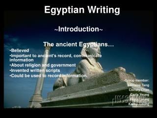 Egyptian Writing