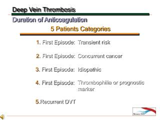 Duration of Anticoagulation