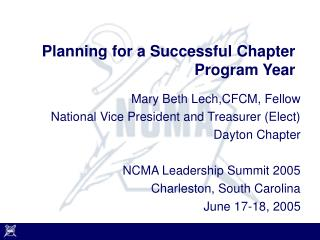 Planning for a Successful Chapter Program Year