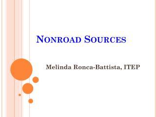 Non r oad Sources