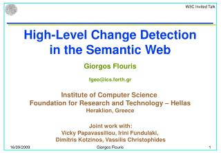 High-Level Change Detection in the Semantic Web