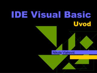 IDE Visual Basic Uvod