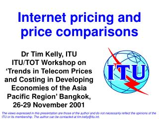 Internet pricing and price comparisons