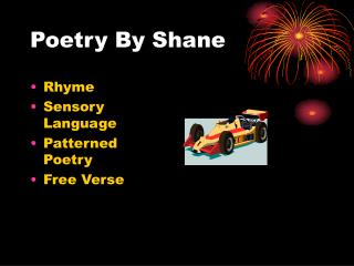 Poetry By Shane