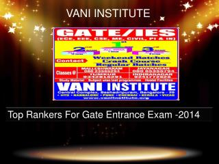 Vani Institute Top Rankers 2014-Vaniinstitute.com