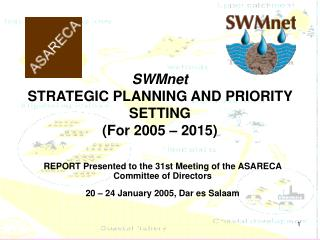 SWMnet STRATEGIC PLANNING AND PRIORITY SETTING  (For 2005 – 2015)