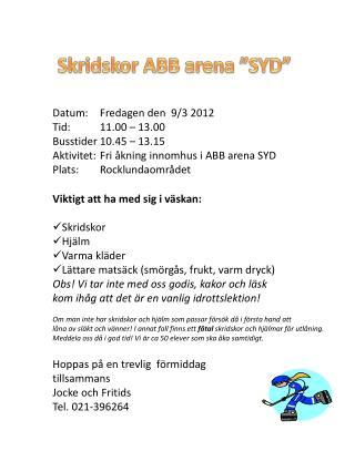 """Skridskor ABB arena """"SYD"""""""