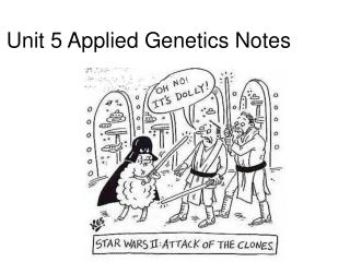 Unit 5 Applied Genetics Notes