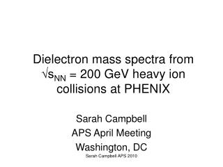 Dielectron mass spectra from √s NN  = 200 GeV heavy ion collisions at PHENIX