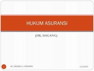 HUKUM ASURANSI