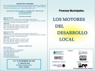 LOS MOTORES   DEL     DESARROLLO        LOCAL