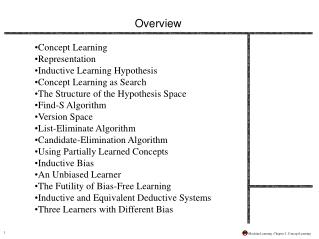 Machine Learning, Chapter 2: Concept Learning