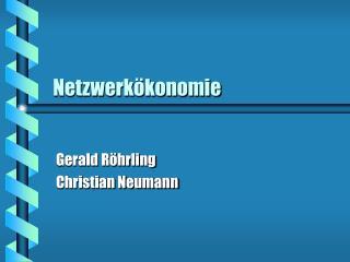 Netzwerkökonomie