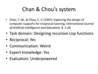 Chan & Chou's system