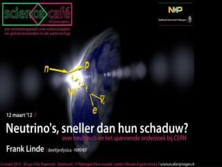12 maart 2012 Frank Linde, Science Café Nijmegen