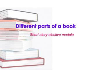 Different parts of a book