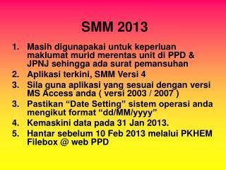 SMM 2013