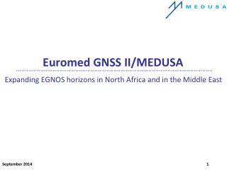 Euromed GNSS II/MEDUSA