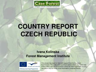 COUNTRY REPORT   CZECH REPUBLIC