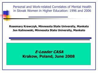 Rosemary Krawczyk, Minnesota State University, Mankato