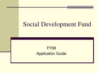 Social Development Fund