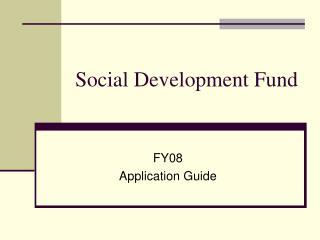 Social Development Fund