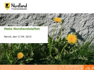 Møte Nordlandsløftet Narvik, den 17.04. 2013