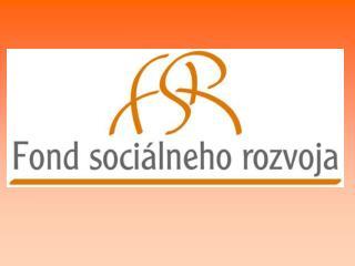 SOCIAL DEVELOPMENT FUND SLOVAKIA