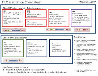 TE Classification Cheat Sheet
