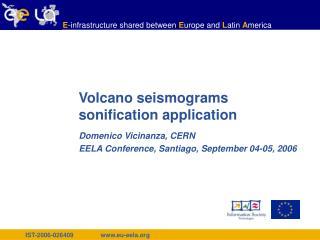 Volcano seismograms sonification application