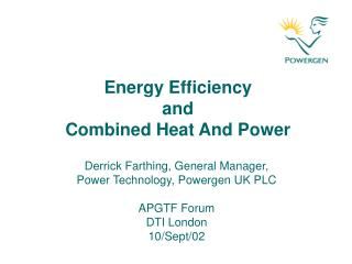 Energy Efficiency  and  Combined Heat And Power