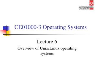 CE01000-3 Operating Systems