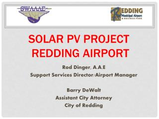 Solar PV Project  Redding Airport