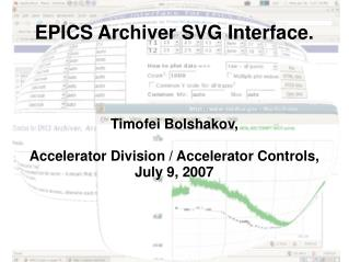 EPICS Archiver SVG Interface.